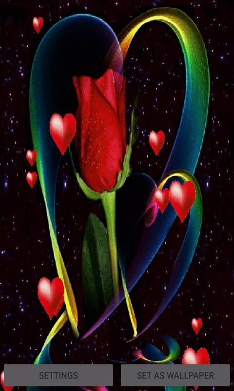 Hearts Red Rose Lwp Free Android Live Wallpaper Download Download