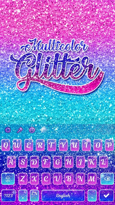 Multicolor Glitter Keyboard Theme Free Android Live Wallpaper Download Download The Free Multicolor Glitter Keyboard Theme Live Wallpaper To Your Android Phone Or Tablet