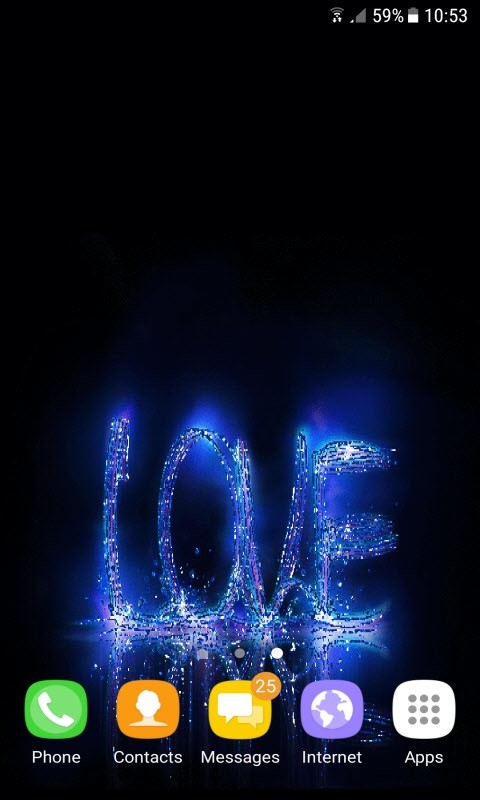 Blue Love Live Wallpaper Free Android Live Wallpaper download