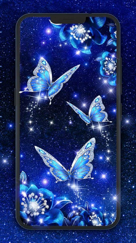 Blue butterfly live wallpaper Free Android Live Wallpaper ...