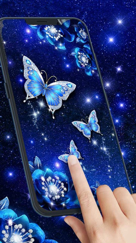 Blue Butterfly Live Wallpaper Free Android Live Wallpaper