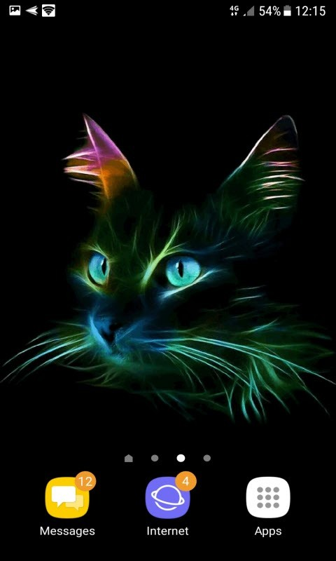 Neon Cat Live Wallpaper Free Android Live Wallpaper Download