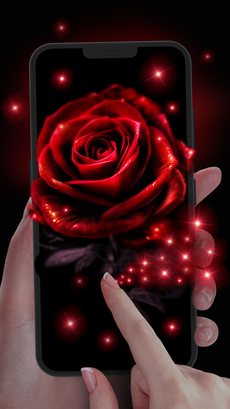 Neon Red Rose Live Wallpaper Free Android Live Wallpaper Download