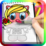 Coloring Book Crazy Kitten Icon