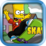 Bart Simpson Skateboarding Icon