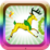 Running Gazelle Gold Icon