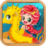 Mermaid and Seahorse Icon