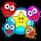 Pop Smiley Balloons Icon