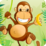 Monkey Banana Jump Icon