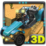 Monster Buggy 3D Icon