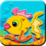 Coloring Cute Fish Icon