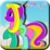 Coloring Graceful Pony Icon
