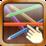 Pick Up Sticks - pick up upper most stick first Icon