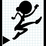 Stick Woman Doddle Thief Fall Icon