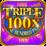Triple 100x Pay Slot Machine Icon