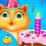 Kitty Birthday Party Time Icon