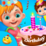 Preschool Toddler Birthday Fun Icon