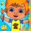 Toddler Kids Color And Draw Icon