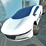 Futuristic Flying Car Driving Icon