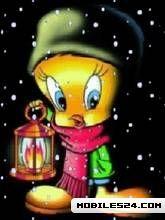 Tweety Bird Winter Background