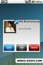 SMS Missed Call Popup Notifier