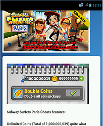 Subway Surfers Paris Cheats