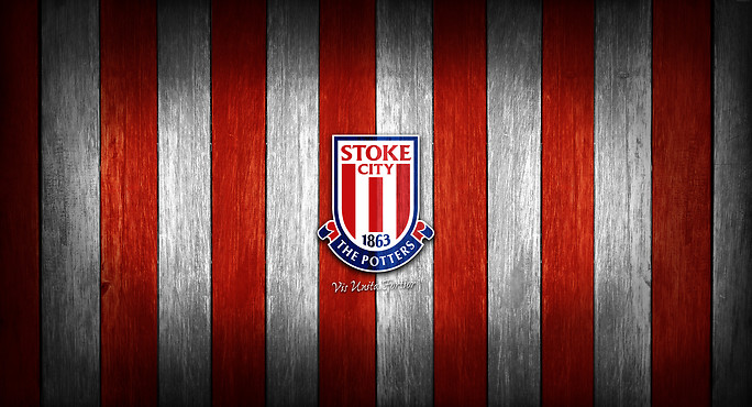 Stoke City Badge Wooden