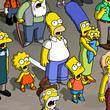 The Simpsons In A Crowd