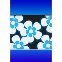 Blue Flower - Lock Screen iP4