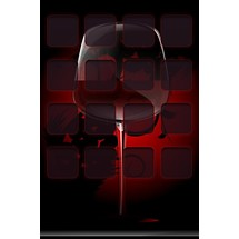 Red Wine Glass - Home Screen iP4