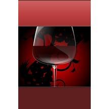 Red Wine Glass - Lock Screen iP4