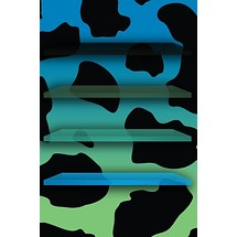 Blue Cow Print - Home Scrn iP4