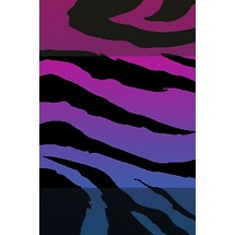 Purple Zebra Print - Lock Scrn iP4