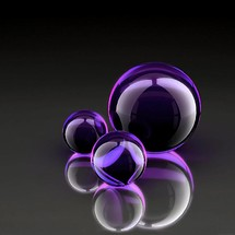 Purple Abstract Glass Balls