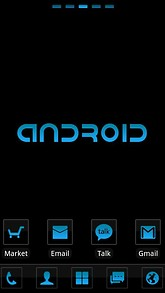 Cool Blue Theme GO Launcher EX