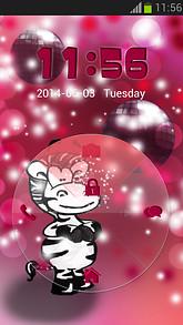 Locker Pink Zebra