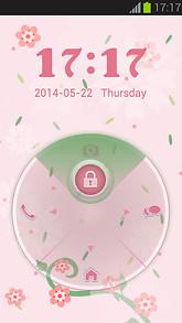 Pink Love Locker GO Theme