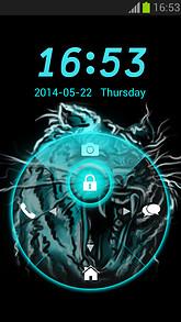 Neon Locker Tiger