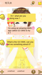 Beauty Girl GO SMS THEME