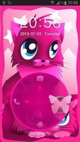 Pink cats theme 4 GO Locker