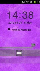 Purple Violet Theme GO Locker