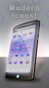 Purple GO Launcher Theme