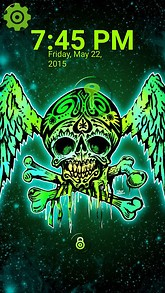 Angel Skull Bones Lock Screen