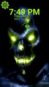Glowing Skull Lock Screen