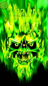 Green Demon Lock Screen