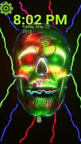 Green Skull Lock Screen