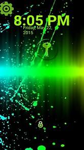 Green Splatter Lock Screen