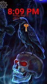 Skull Raven Lock Screen