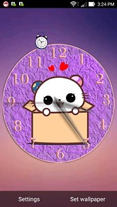 Cute Bear in Box Desktop Clock Theme