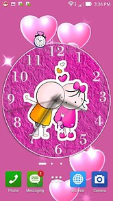 Cute Couple Clock Desktop Theme